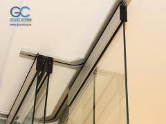 Телескопический механизм для раздвижных стеклянных дверей